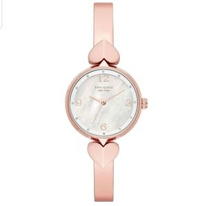 Hollis rose gold-tone stainless steel bangle watch